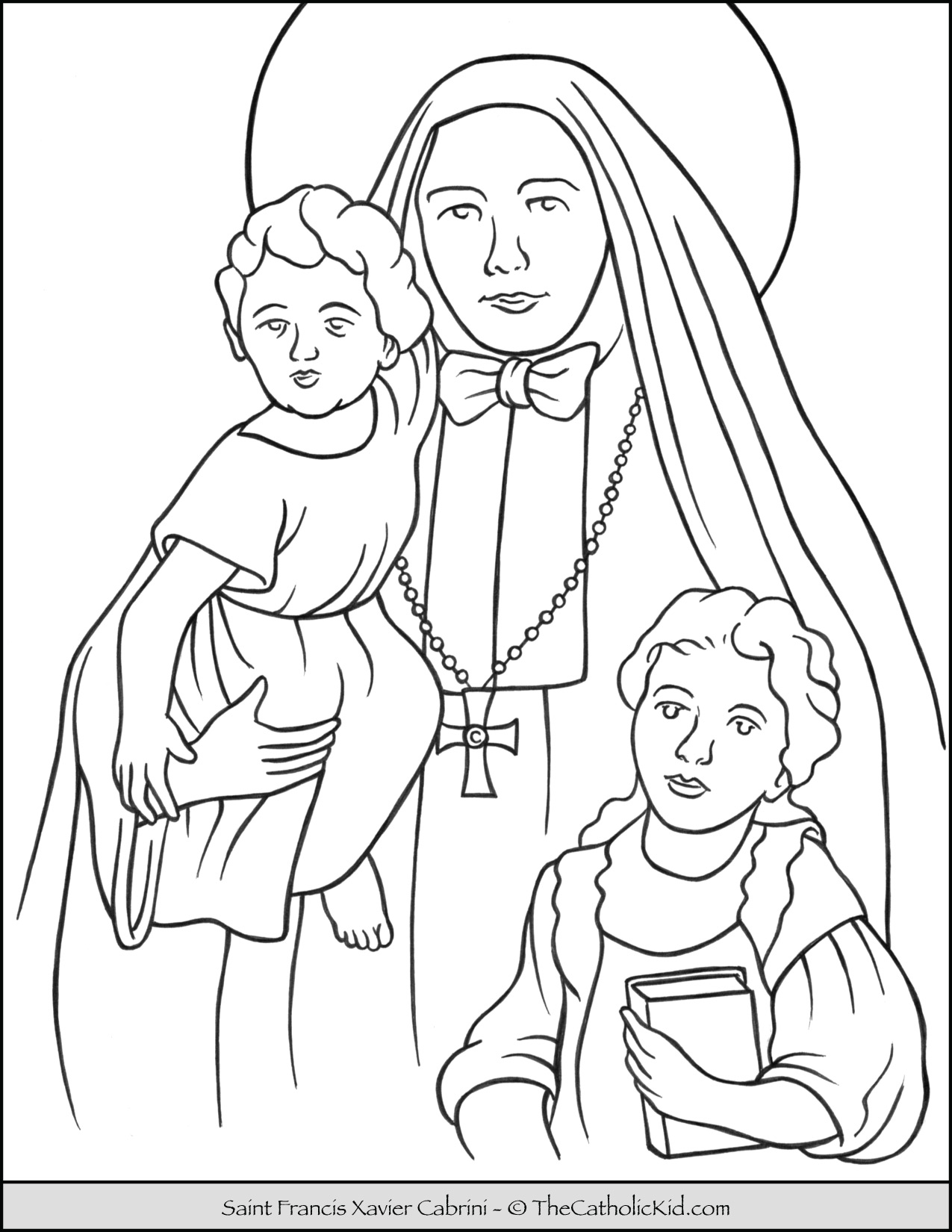 st francis xavier coloring page st frances xavier cabrini coloring page free printable coloring st page xavier francis
