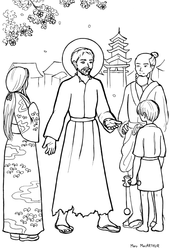 st francis xavier coloring page st francis xavier coloring page free printable coloring st page coloring francis xavier