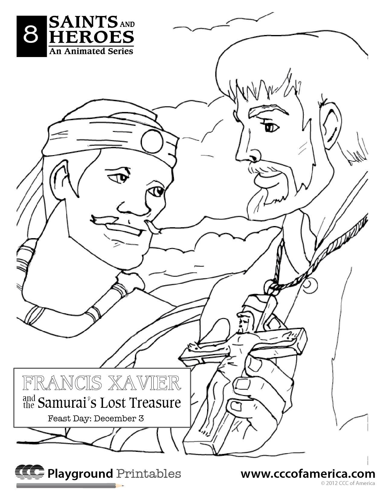 st francis xavier coloring page the catholic illustrators guild st francis xavier coloring xavier st francis page