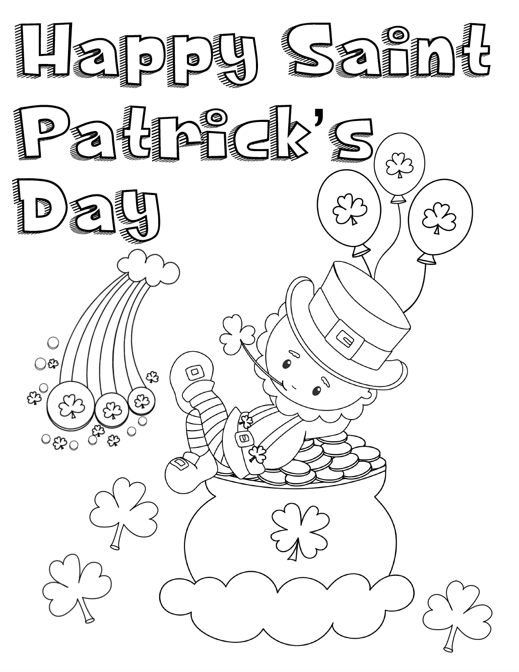 st patricks day coloring pages free printable st patricks day coloring pages 4 designs patricks st pages coloring day