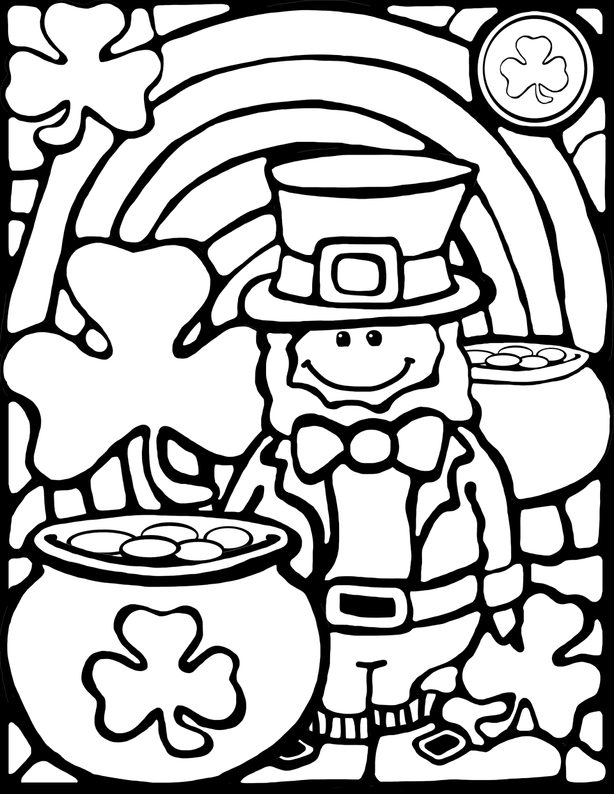 st patricks day coloring pages rainbows and pop up books whimsy workshop teaching patricks pages day coloring st