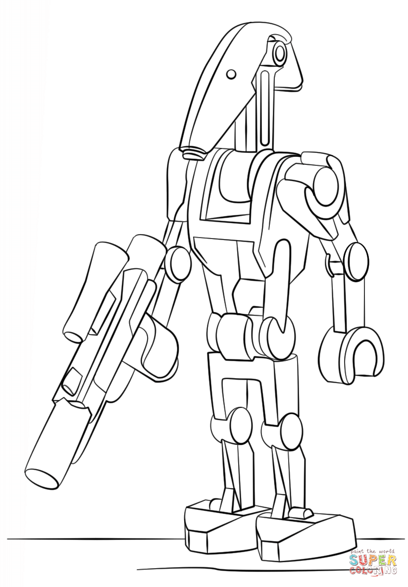 star wars droid coloring pages battle droid coloring pages coloring pages star coloring droid wars pages