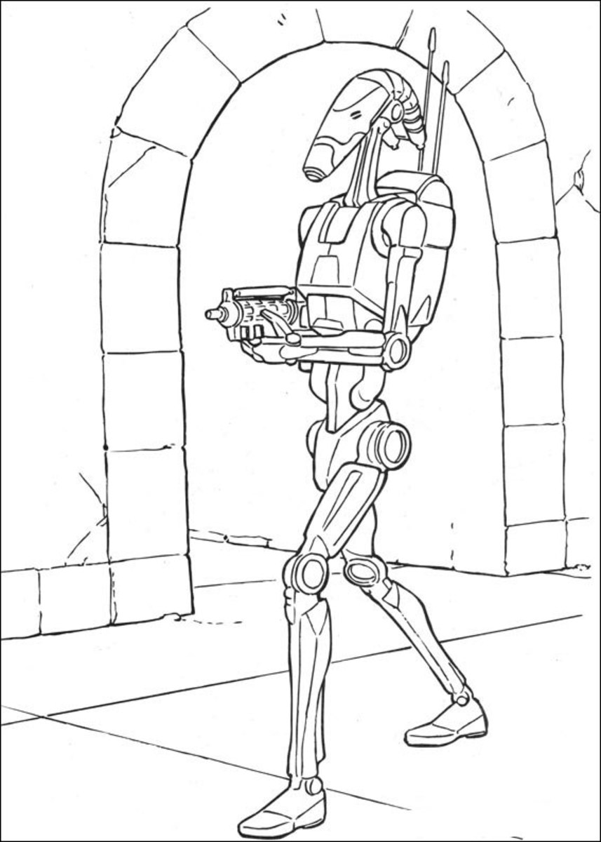 star wars droid coloring pages battle droid coloring pages sketch coloring page wars droid coloring star pages