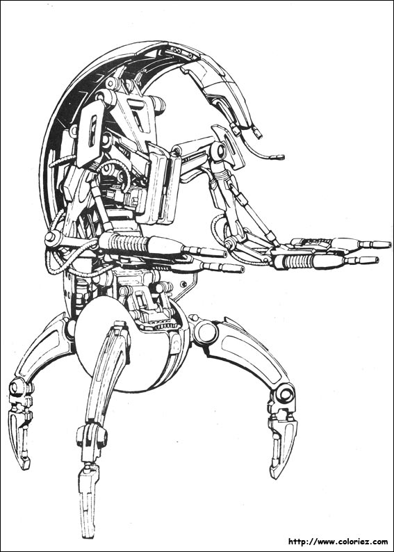 star wars droid coloring pages coloriage les droïds destroyers droid wars coloring pages star