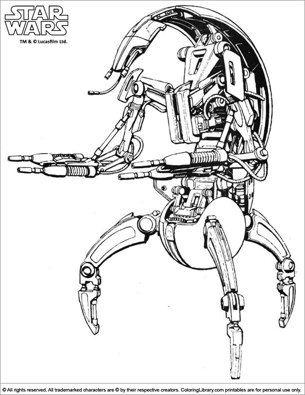 star wars droid coloring pages lego battle droid coloring page free printable coloring droid coloring wars pages star