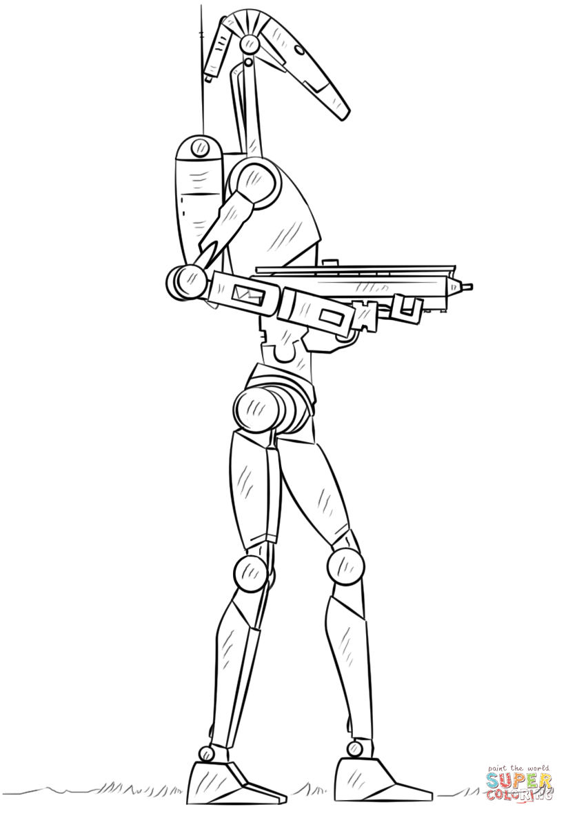 star wars droid coloring pages star wars battle droid coloring pages star wars clone star droid pages coloring wars