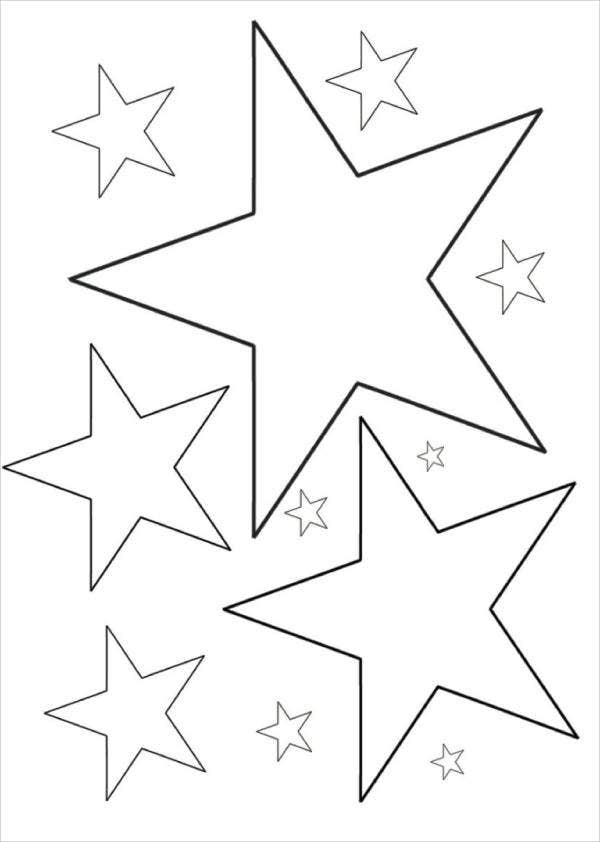 stars to colour and print moon and stars coloring pages printable  coloring home colour stars to print and