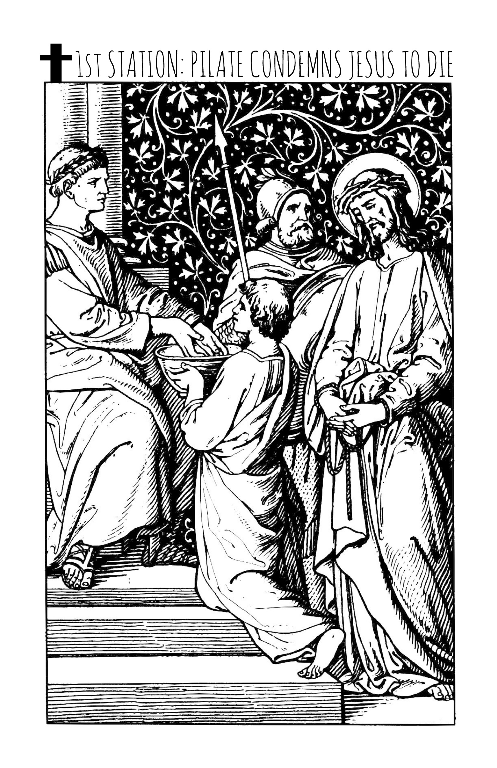 stations of the cross coloring stations of the cross coloring page home sketch coloring stations coloring of cross the