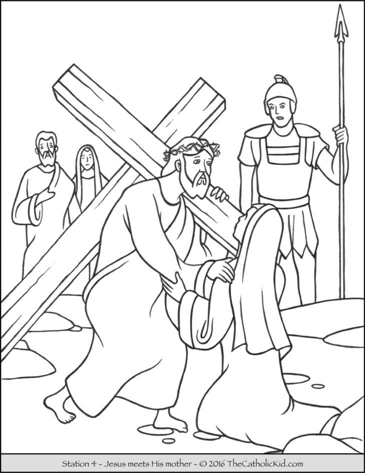 stations of the cross coloring stations of the cross coloring pages the catholic kid coloring of the stations cross