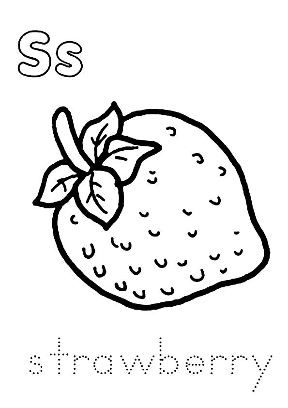 strawberry for coloring s is for strawberry coloring page twisty noodle for coloring strawberry