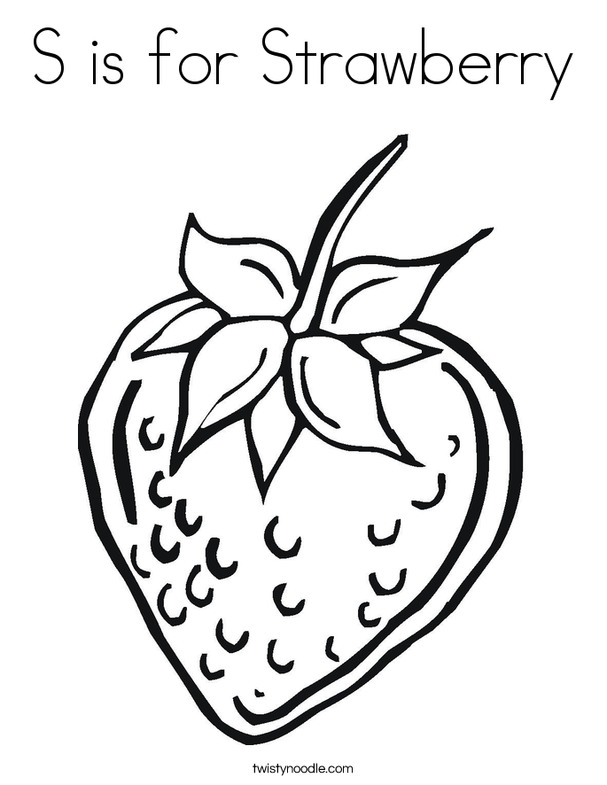 strawberry for coloring strawberry coloring pages download and print strawberry for coloring strawberry 1 1