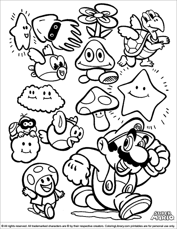 super mario brothers printables coloring pages mario coloring pages free and printable super mario brothers printables