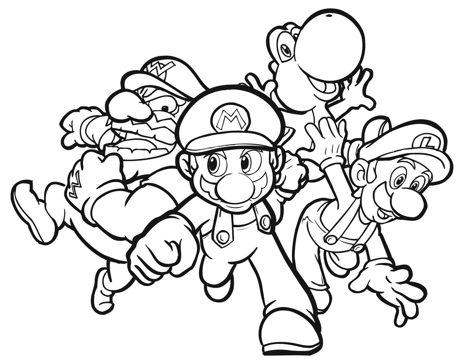 super mario brothers printables super mario bros coloring pages free large images brothers mario super printables