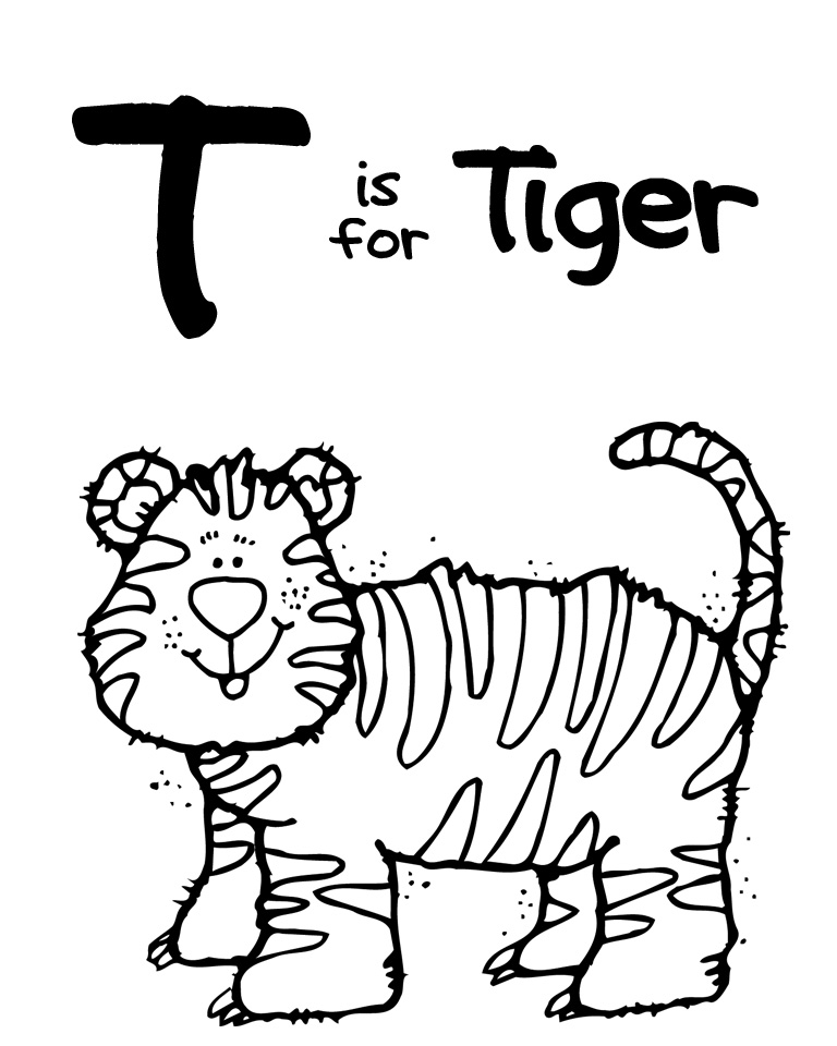 t coloring page letter t is for tree coloring page free printable page coloring t