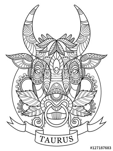 taurus zodiac coloring pages 49 best fantasy coloring pages images on pinterest zodiac pages taurus coloring