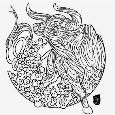 taurus zodiac coloring pages adult coloring page zodiac sign set taurus pages zodiac coloring taurus