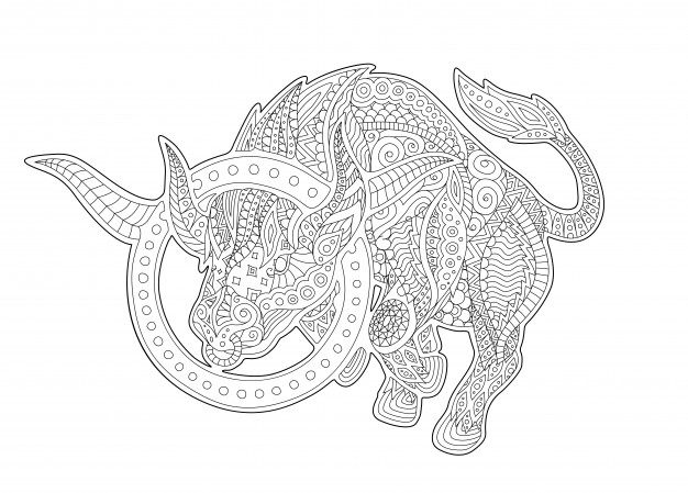 taurus zodiac coloring pages coloring book page with zodiac symbol taurus premium vector pages taurus zodiac coloring