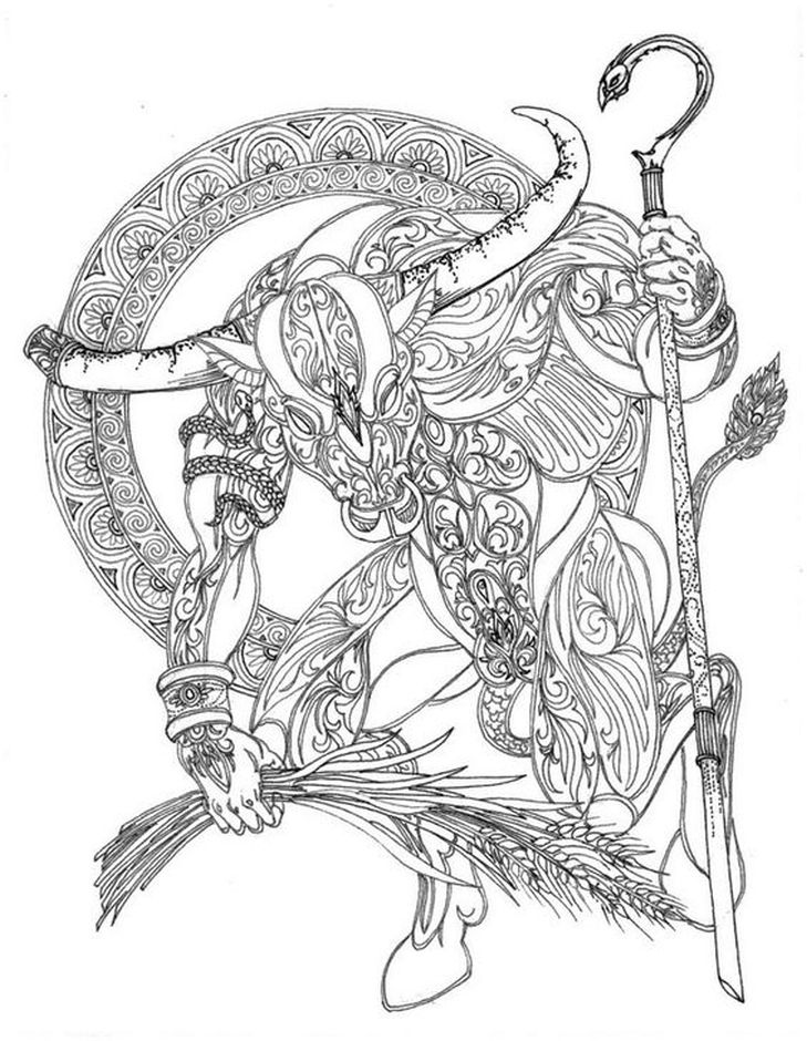 taurus zodiac coloring pages pin de beth conroy en color zodiacmagic color coloring taurus zodiac coloring pages