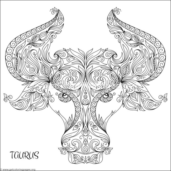 taurus zodiac coloring pages taurus adult coloring page coloring taurus pages zodiac