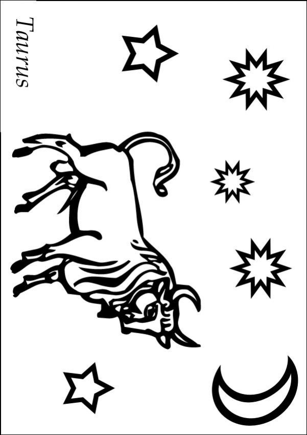 taurus zodiac coloring pages taurus coloring pages hellokidscom zodiac coloring taurus pages