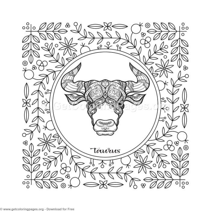 taurus zodiac coloring pages taurus zodiac element coloring pages free instant download pages coloring taurus zodiac