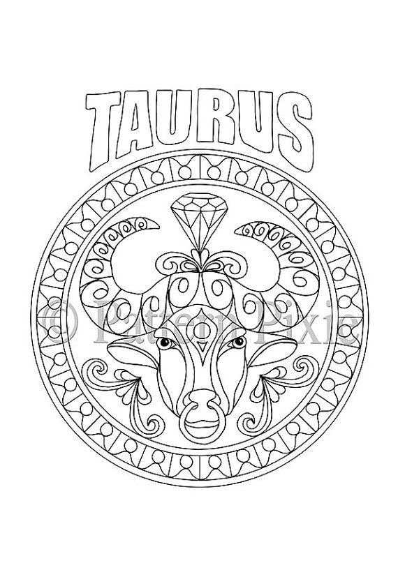 taurus zodiac coloring pages taurus zodiac sign coloring page for adults fotolia coloring zodiac pages taurus