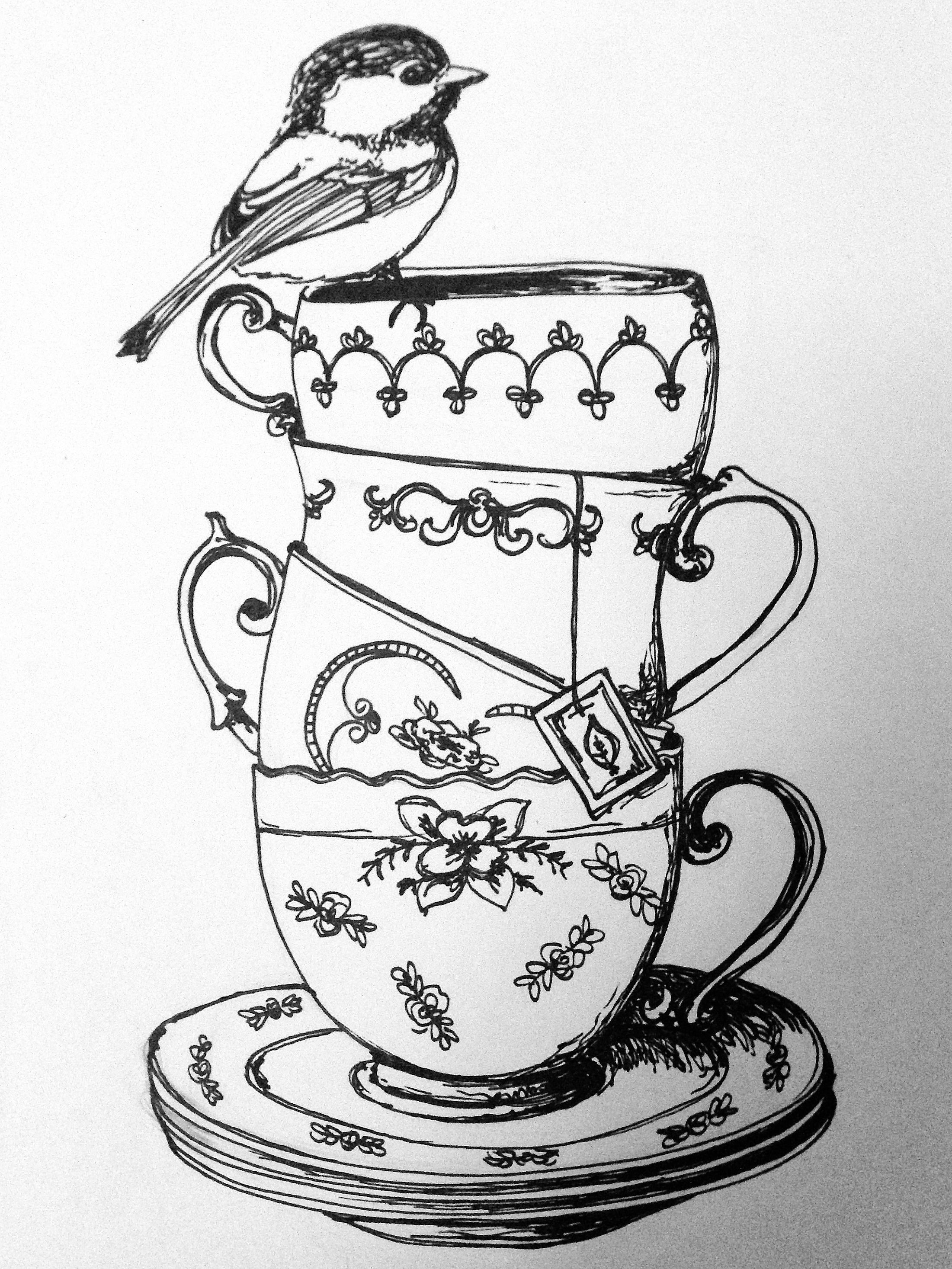 tea cup coloring page 1000 images about tea and coffee coloring pages on coloring cup page tea