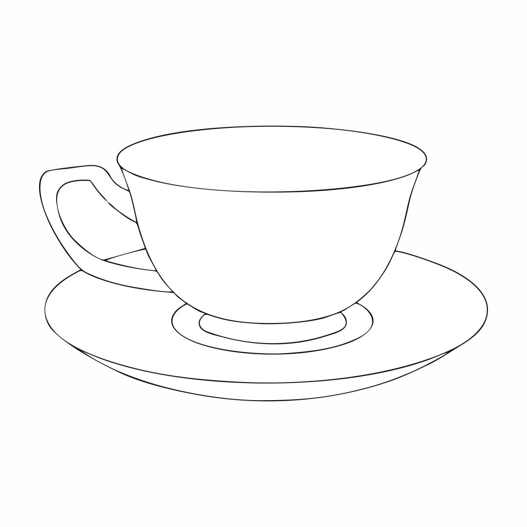 tea cup coloring page 7 best images of tea cup template free printable tea cup page cup coloring tea