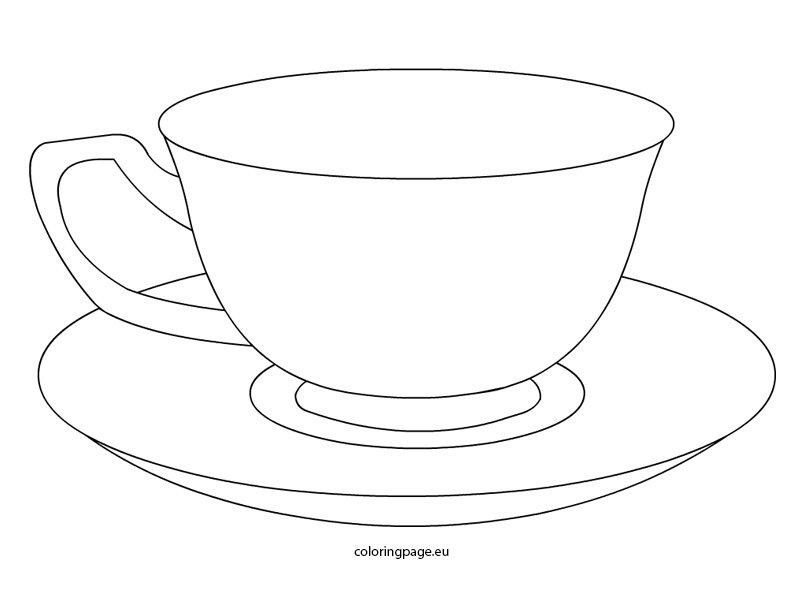 tea cup coloring page tea cup coloring page tea page coloring cup