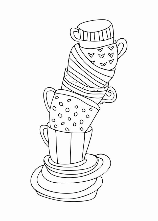 tea cup coloring page tea cups free coloring pages coloring page tea cup