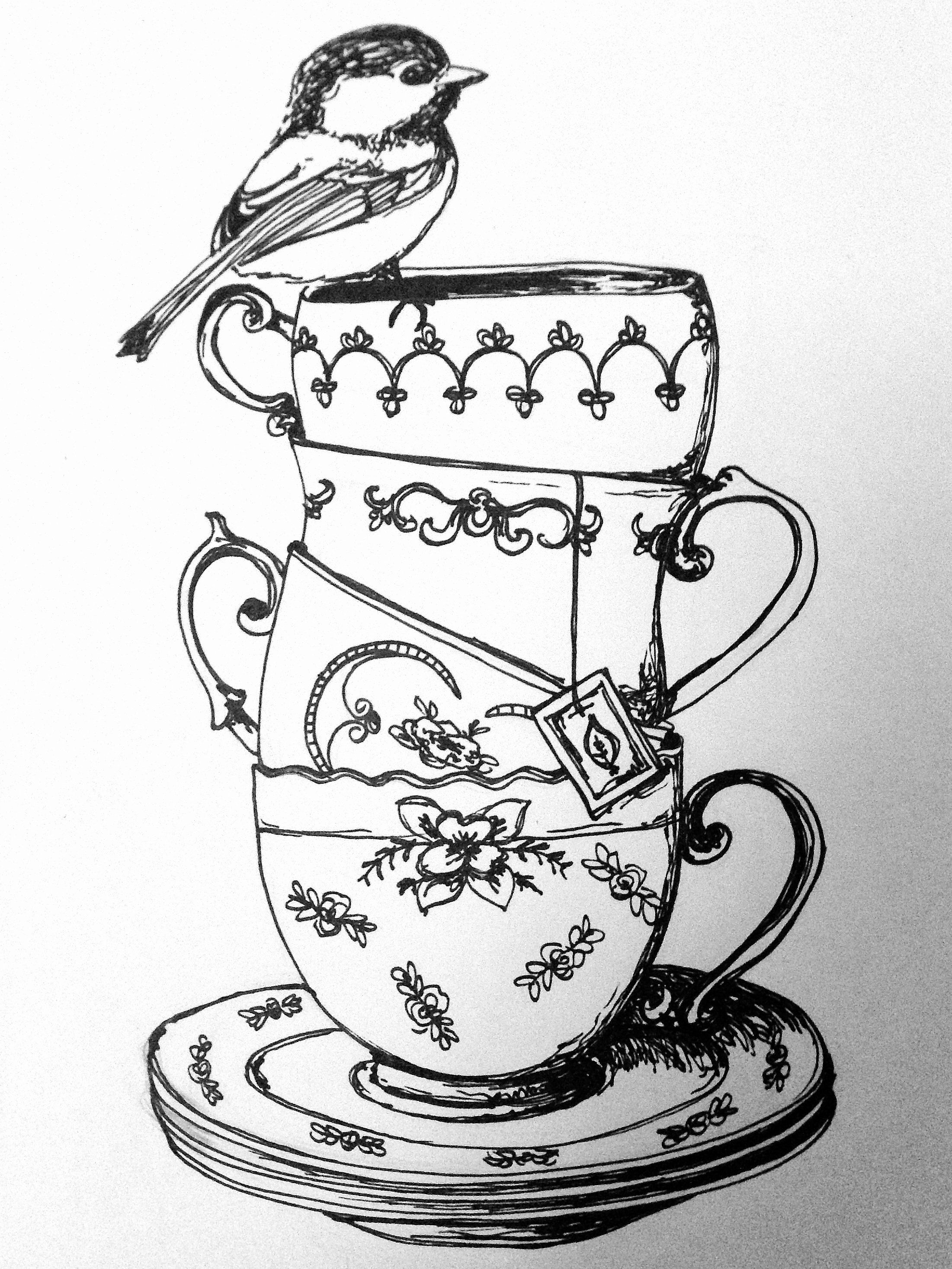 tea cup coloring page tea sets drawing and coloring cup teapot toy learn tea cup coloring page