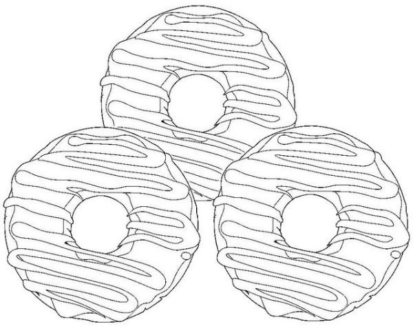 teal icing food coloring nutty chocolate donut coloring page icing teal coloring food