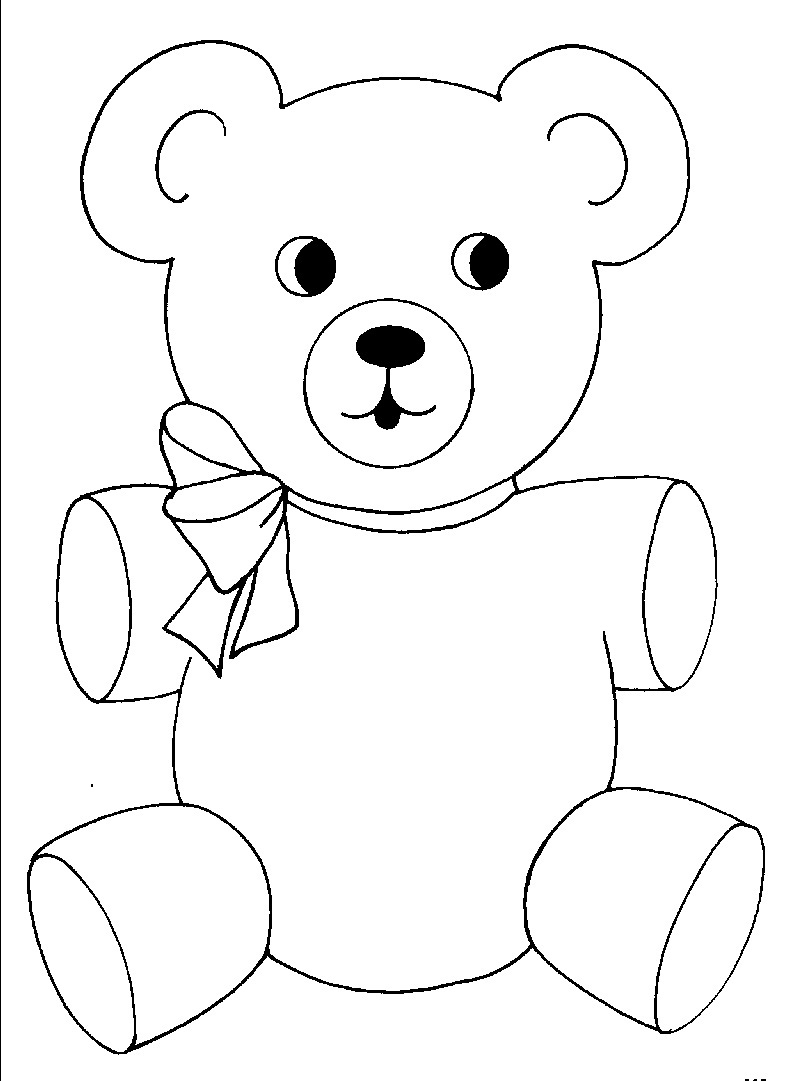teddy bear colour in free bear coloring pages teddy in bear colour