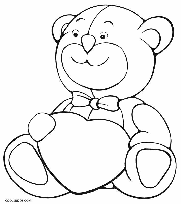 teddy bear colour in free printable teddy bear coloring pages for kids bear teddy colour in