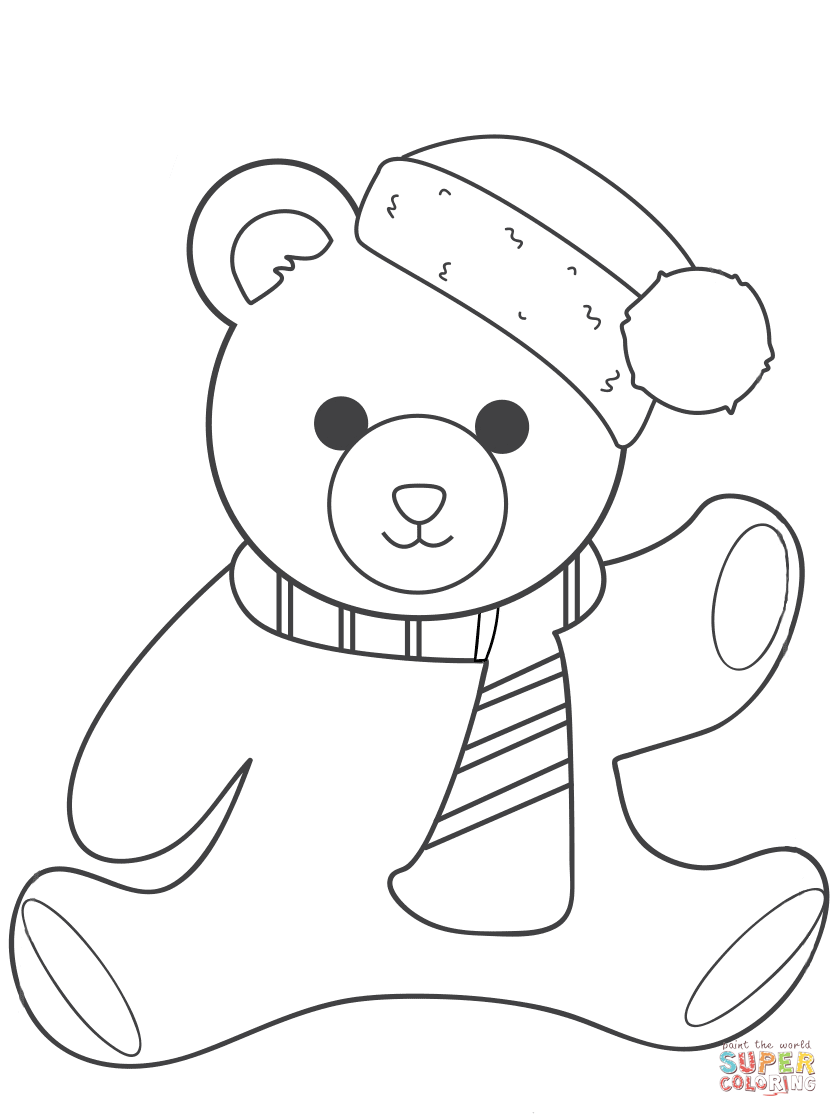 teddy bear colour in free printable teddy bear coloring pages for kids in bear colour teddy