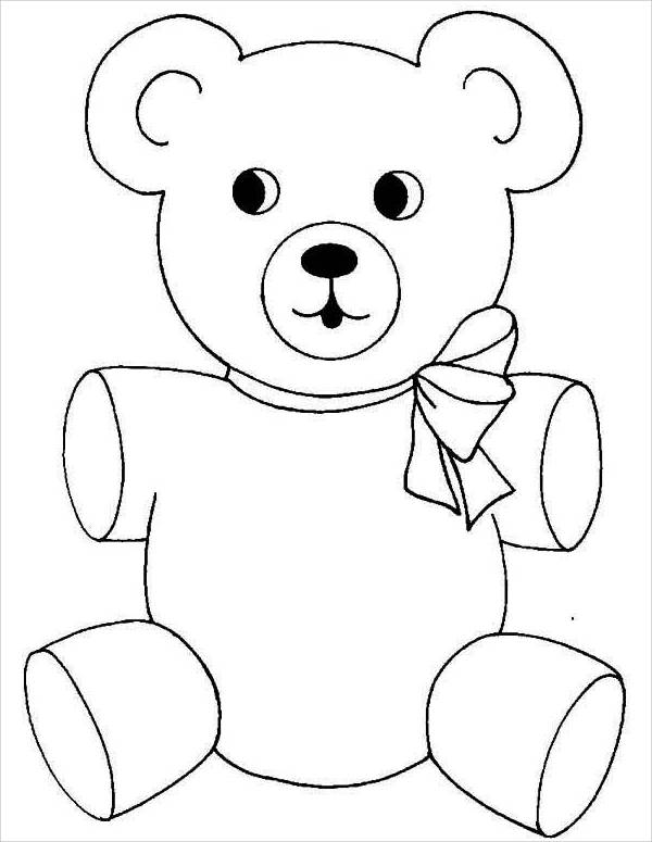 teddy bear colour in printable teddy bear coloring pages for kids bear colour in teddy