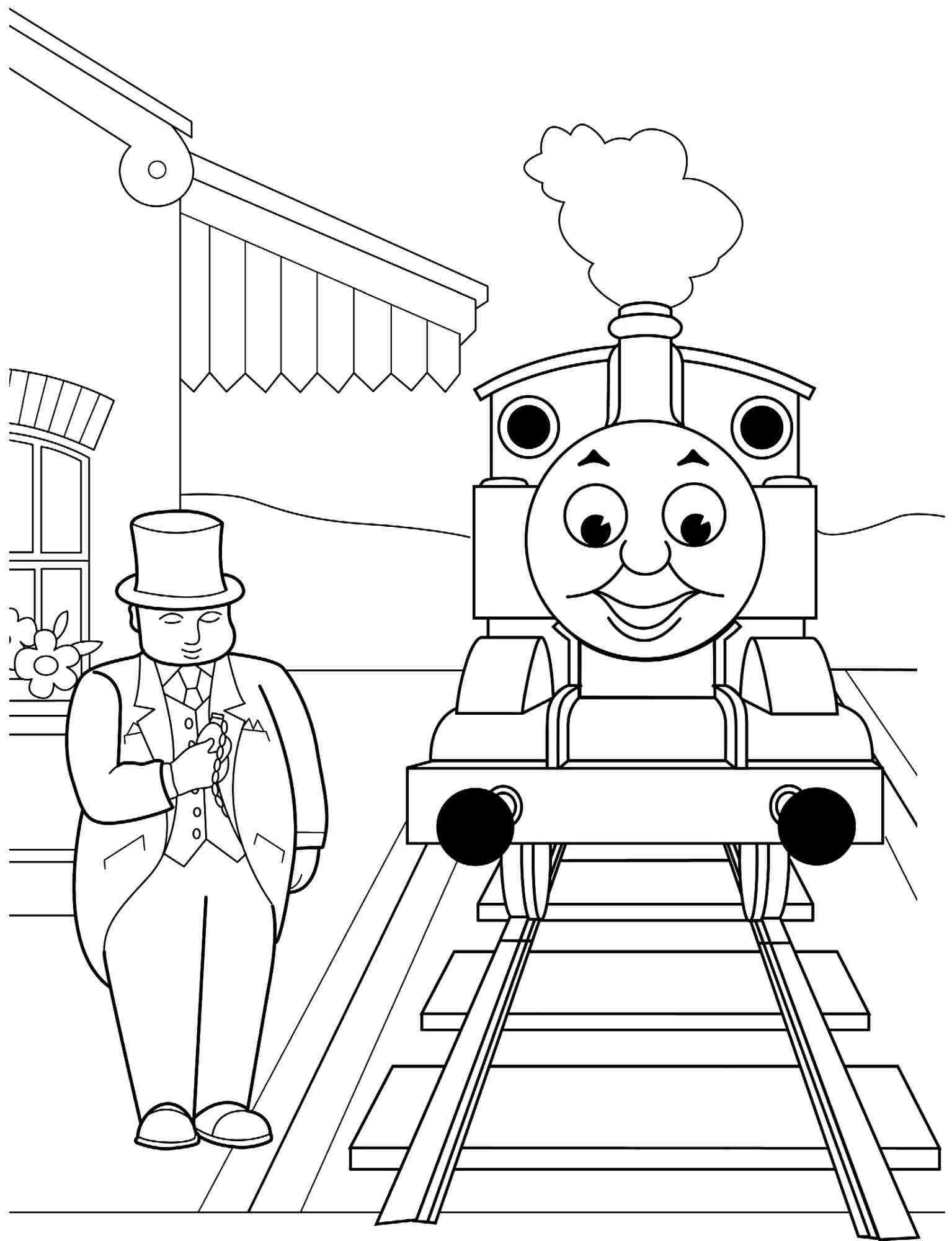 thomas and friends coloring thomas and friends coloring pages baggage for kids and thomas coloring friends