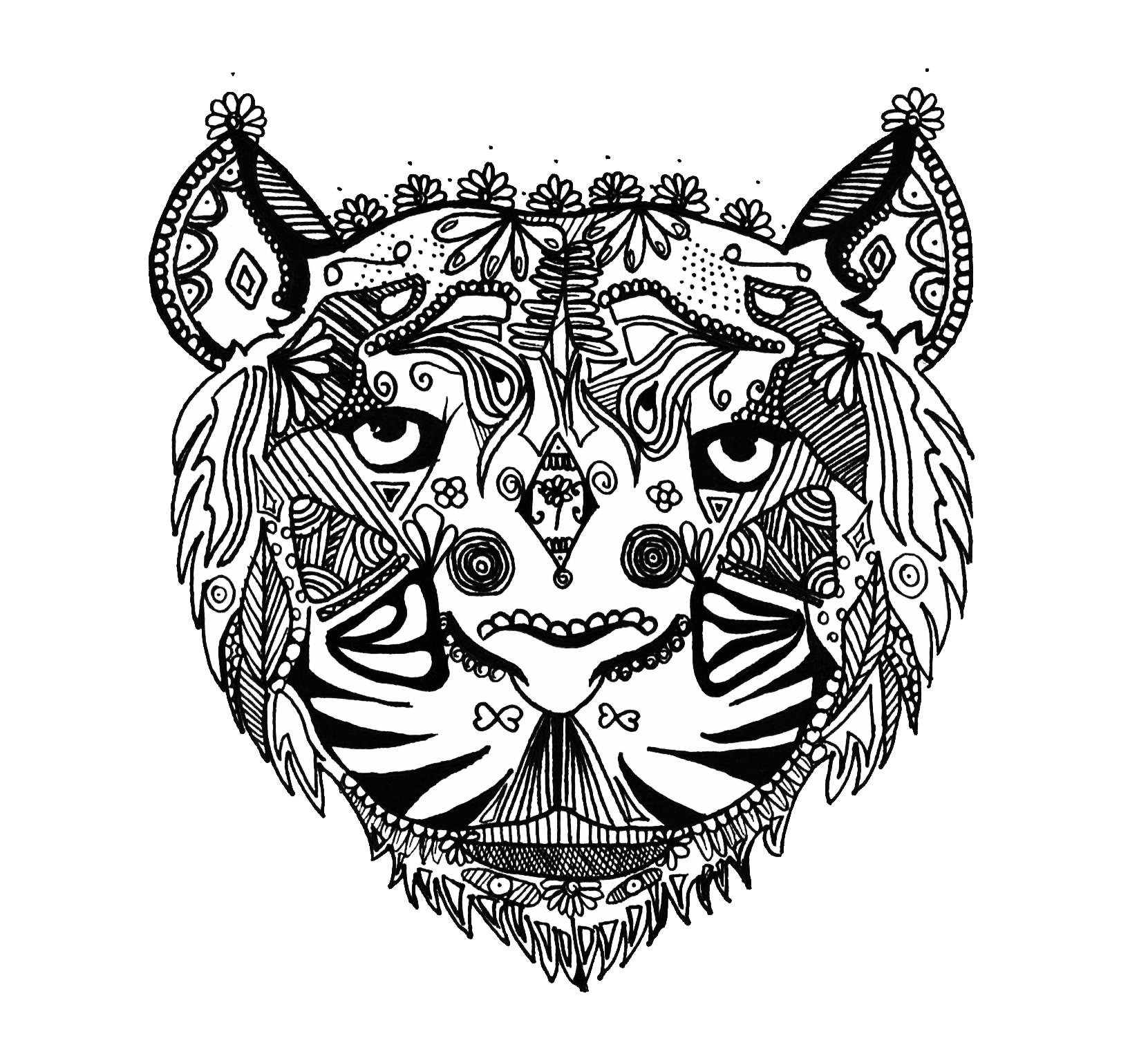 tiger mandala coloring pages 28 collection of mandala tiger drawing tiger drawing coloring mandala pages tiger