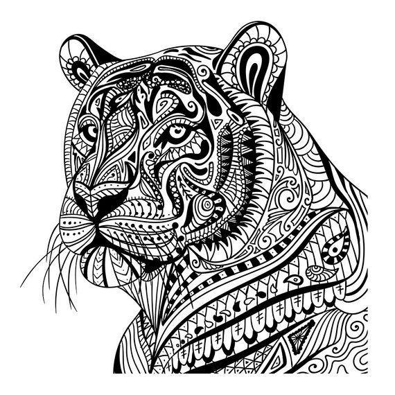 tiger mandala coloring pages doodle animals malvorlagen tiere mandala malvorlagen mandala coloring tiger pages
