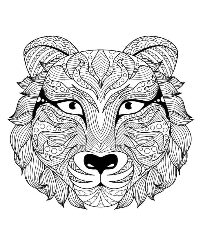 tiger mandala coloring pages tiger zentangle alice zentangle adult coloring pages mandala tiger pages coloring