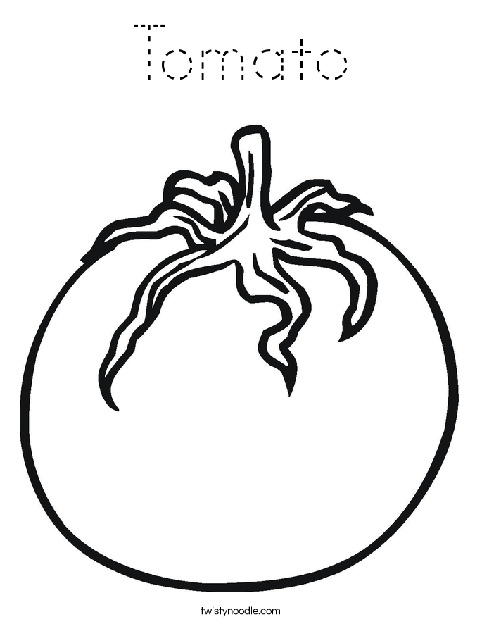 tomato outline tomato coloring page tracing twisty noodle tomato outline