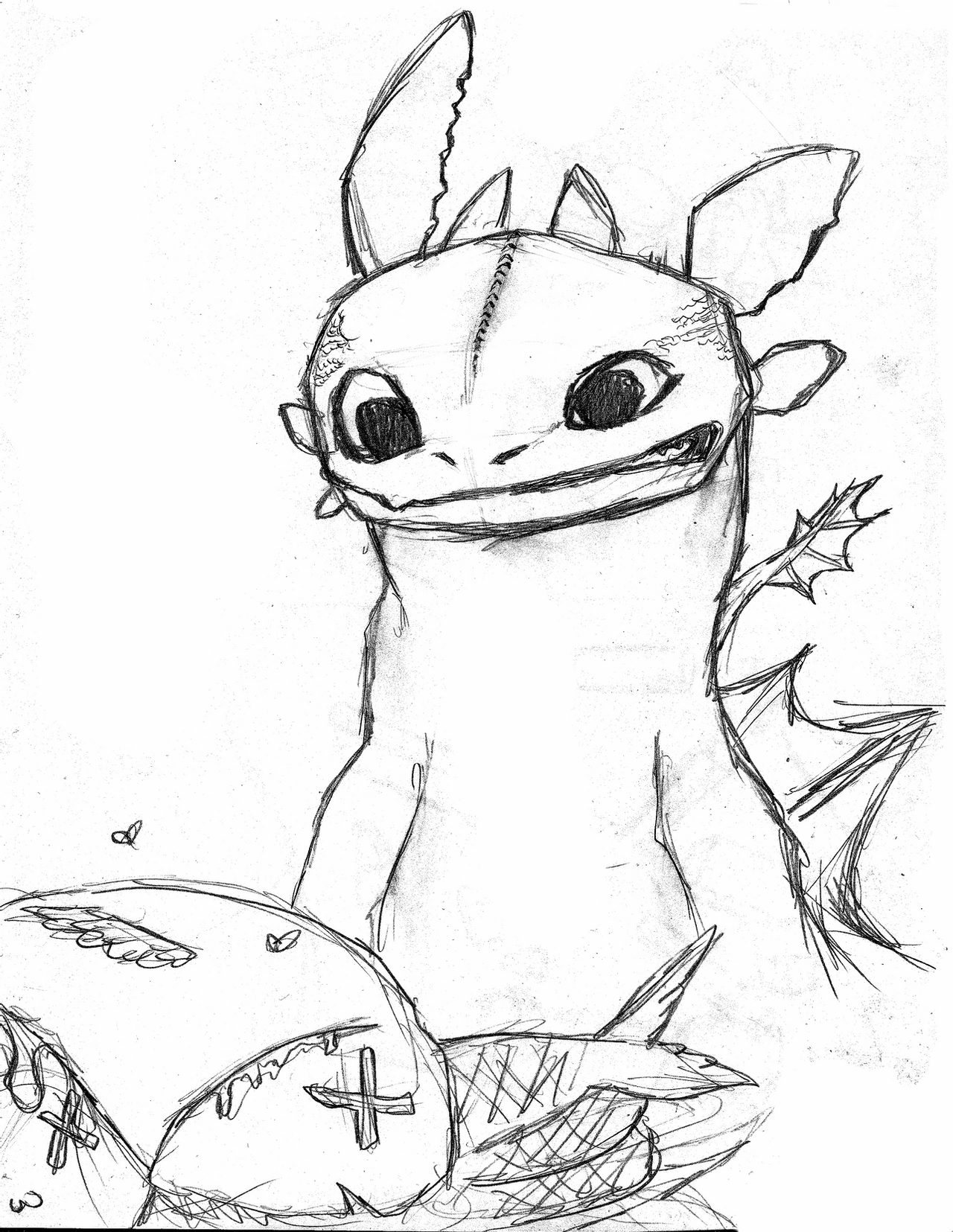 toothless dragon drawing toothless sketches by enolianslave on deviantart toothless dragon drawing