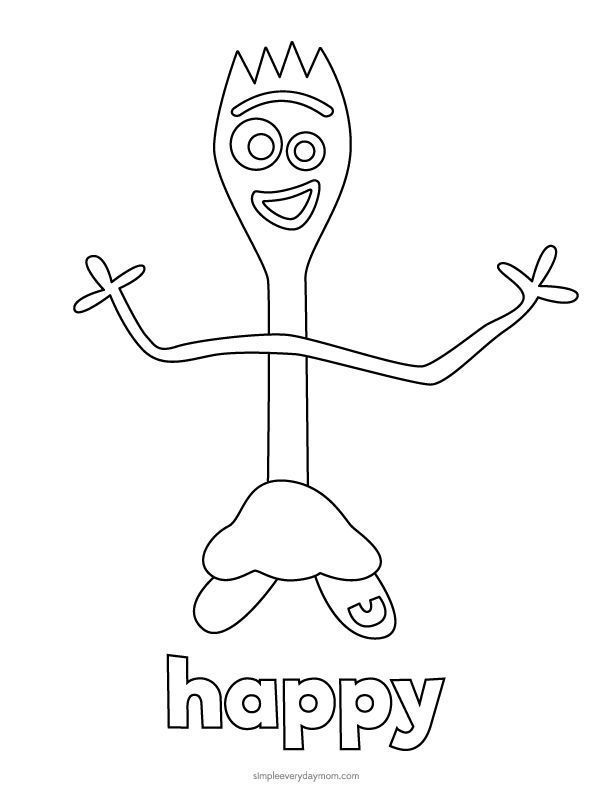 toy story 4 coloring pages forky forky coloring pages printable coloring page blog coloring toy 4 forky story pages