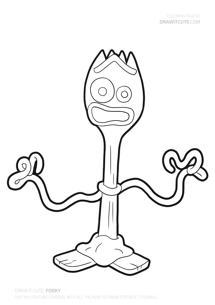 toy story 4 coloring pages forky how to draw forky toy story 4 draw it cute story coloring 4 forky pages toy