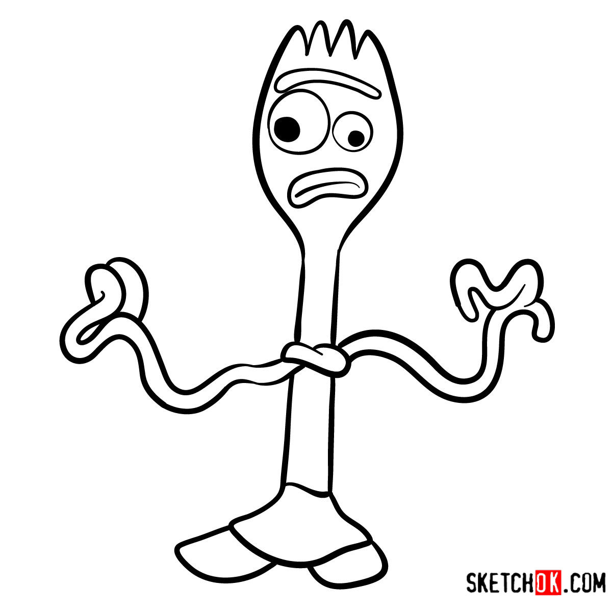 toy story 4 coloring pages forky new toy story 4 forky coloring pages get coloring pages pages 4 story forky coloring toy