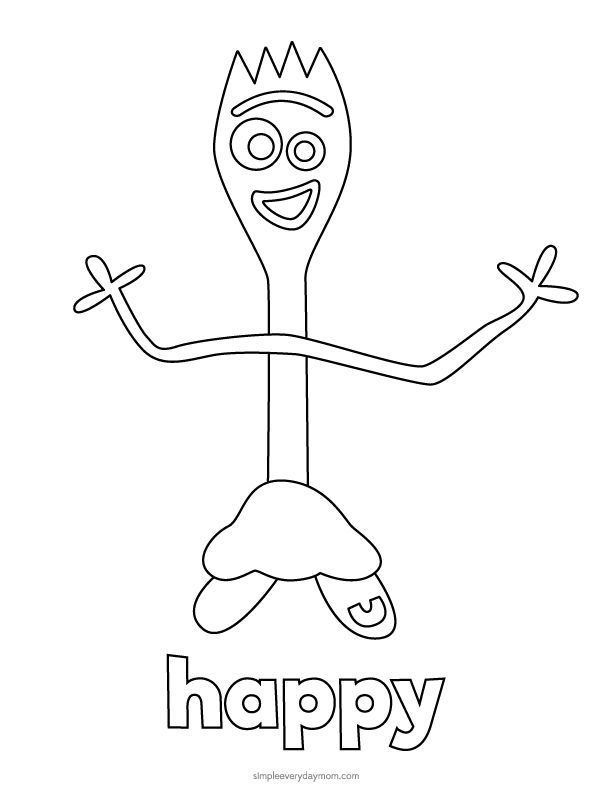 toy story 4 coloring pages forky toy story 4 forky coloring pages for kids toy story forky toy 4 story pages coloring