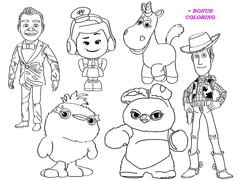 toy story 4 coloring toy story 4 coloring pages for learning toy story 4 coloring 4 story toy