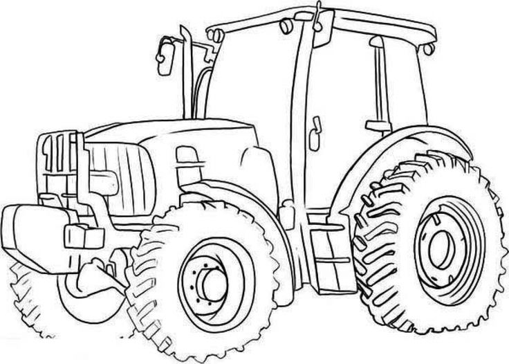 tractor pictures for kids printable colouring digger in 2020 tractor coloring pictures for tractor kids