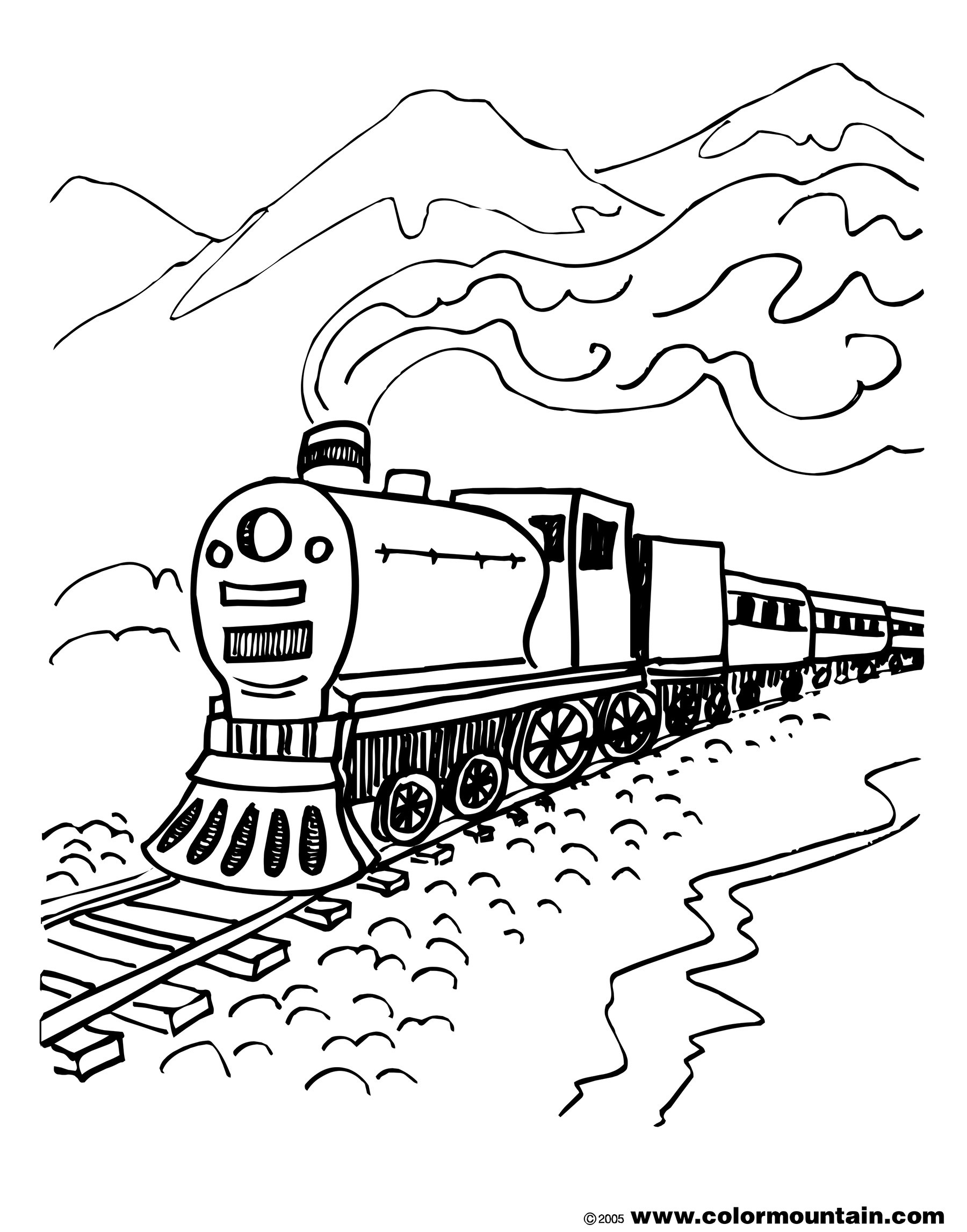 train coloring free printable train coloring pages for kids train coloring