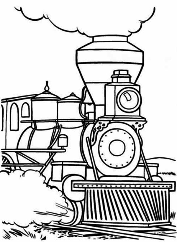 trains coloring pages steam train begin to walk coloring page netart coloring pages trains